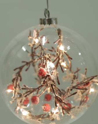 Weihnachtsartikel Glaskugel Mit Innendekoration L S Gmbh