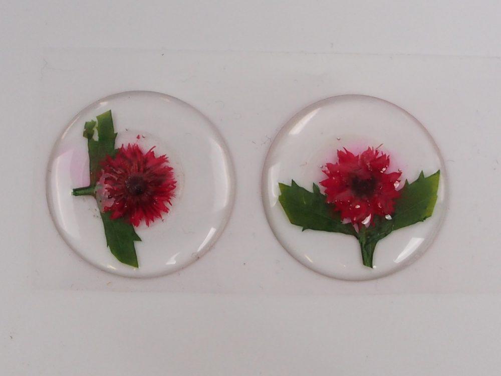Blumensticker aus echten gepressten Blumen