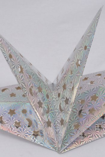 Faltstern aus Silberfolie