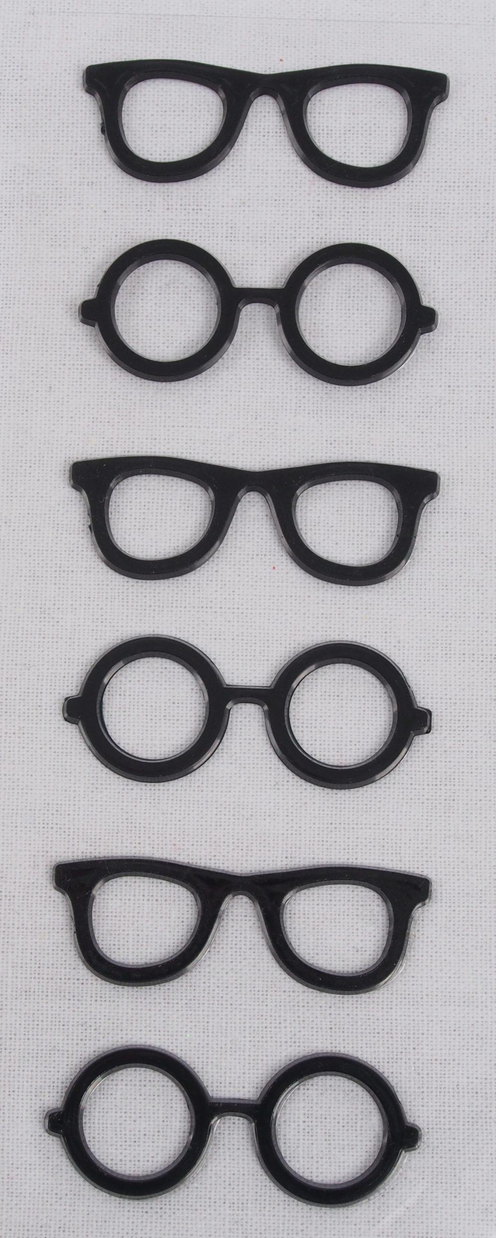 Kunststoffsticker Brillen