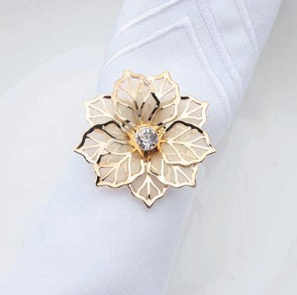 Serviettenring Blüte gold