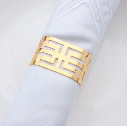 Serviettenring Muster gold