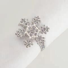 Serviettenring Schneeflocke silber