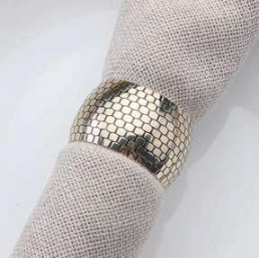 Serviettenring silber mit Karodesign