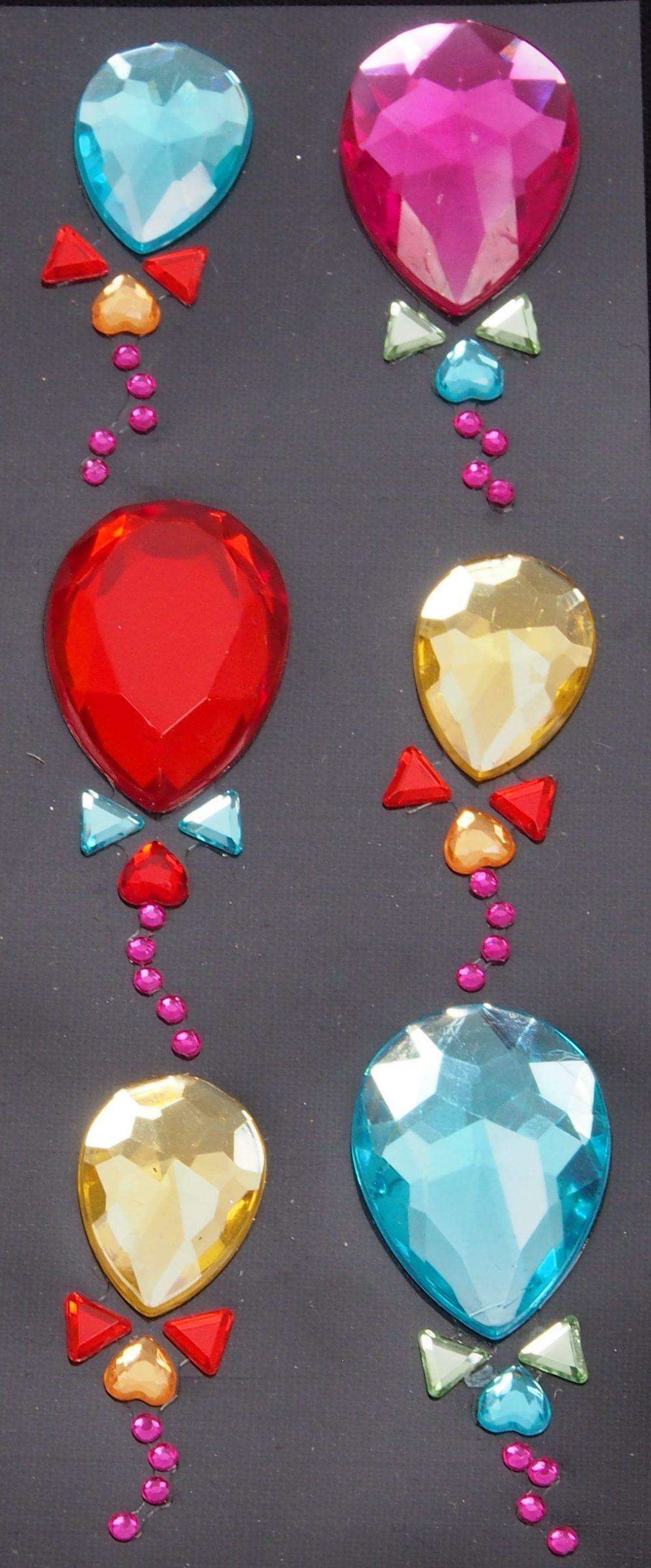 Strasssticker Ballons