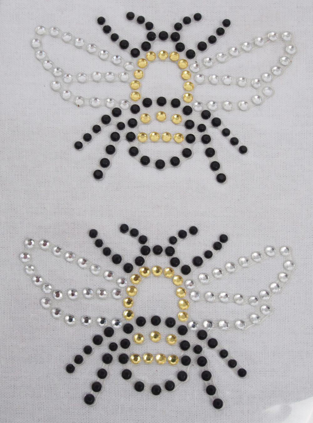 Strasssticker Biene