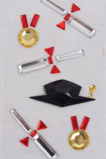 Strasssticker Zylinder und Stock