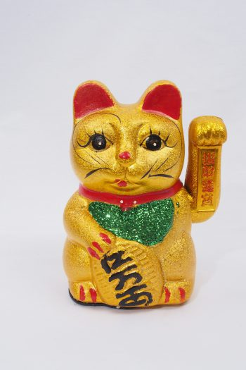 Winkekatze - gold