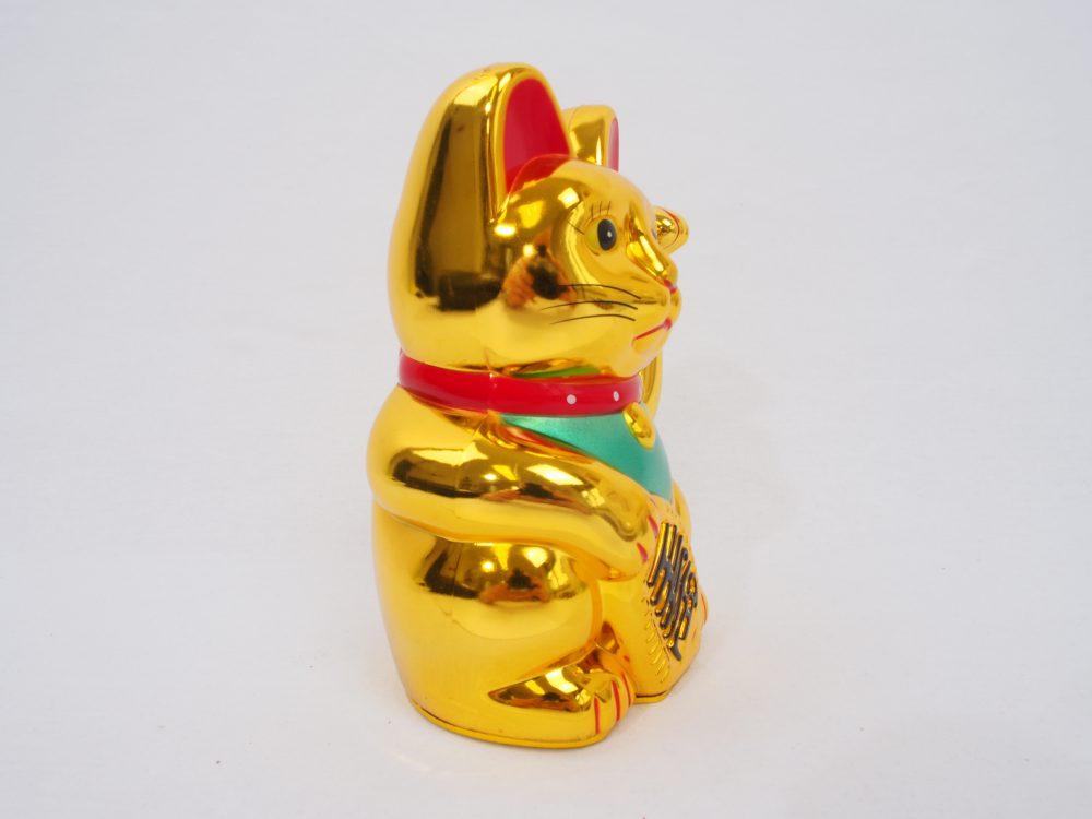 Winkekatze – gold glänzend