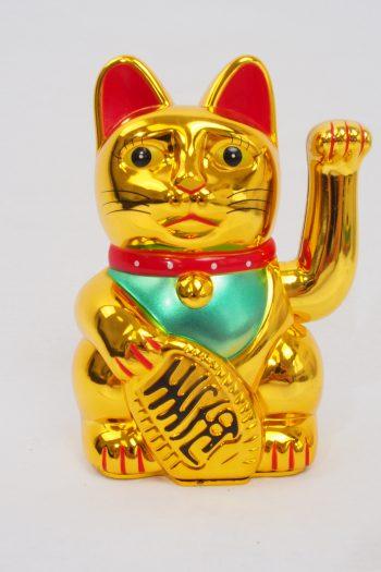 Winkekatze - gold glänzend